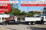 HINO FM1J TIPPER COMBO with TL10 on  9 Ton Trailer