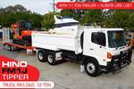 U57 excavator with HINO TIPPER + 11T Tag Trailer